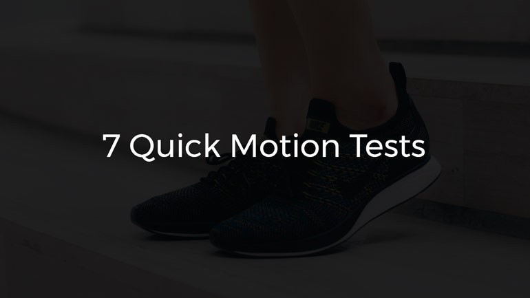Tests for normal motion
